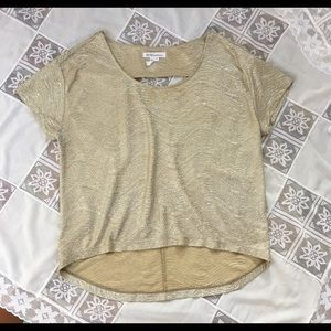 BCBGeneration Gold blouse size small.